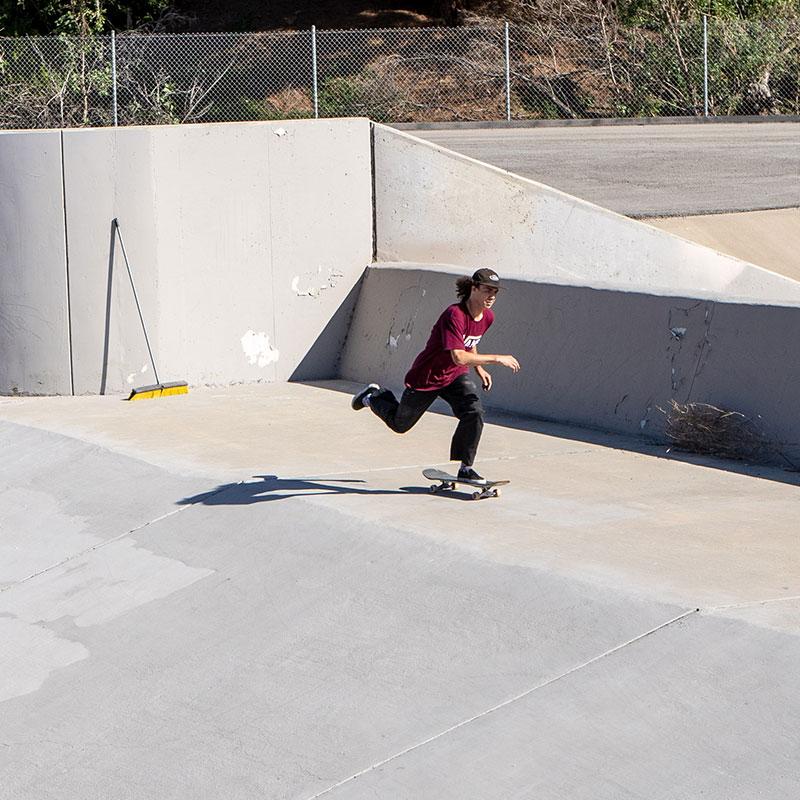 Tanner Van Vark pushing